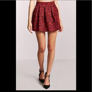 Velvet lined mini skirt
